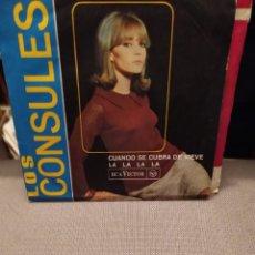 Discos de vinilo: LOS CONSULES: CUANDO SE CUBRA DE NIEVE, LA LA LA LA, RCA VICTOR 1966. Lote 230261920