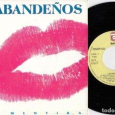 Disques de vinyle: LOS SABANDEÑOS - LA MENTIRA - SINGLE DE VINILO PROMOCIONAL FOLKLORE DE CANARIAS #. Lote 230268215