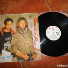 Discos de vinilo: UMBERTO TOZZI & RAF GENTE DI MARE MAXI SINGLE VINILO ESPAÑA EUROVISION 1987 4 TEMAS. Lote 230272605