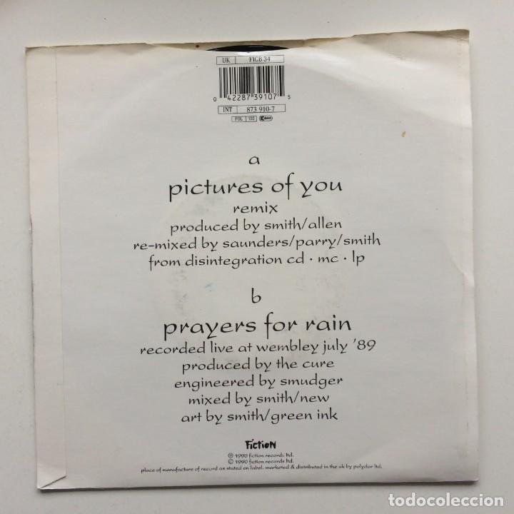 Discos de vinilo: The Cure – Pictures Of You / Prayers For Rain UK,1990 - Foto 2 - 230273685