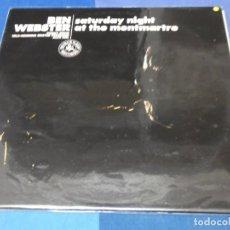 Discos de vinilo: LOTT110 LP JAZZ UK BEN WEBSTER SATURDAY NIGHT AT THE MONTMARTRE BUEN ESTADO EN BLACK LION. Lote 230301090