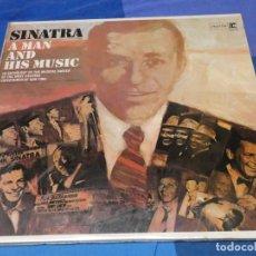 Discos de vinilo: LOTT110 DOBLE LP GRAN GROSOR E IMPORTANCIA FRANK SINATRA MAN AND MUSIC REPRISE 70S MUY BUEN ESTADO. Lote 230301115