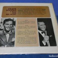 Discos de vinilo: LOTT110 LP UK AÑOS 70 FRANK SINATRA A MAN AND HIS MUSIC SOLO TIENE UN DISCO DE LOS DOS. Lote 230301215