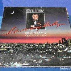 Discos de vinilo: LOTT110 LP UK AÑO 1984 FRANK SINATRA LOS ANGELES IS MY LADY QUINCY JONES BUEN ESTADO. Lote 230301220