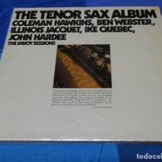 Discos de vinilo: LOTT110 DOBLE LP JAZZ UK SAVOY RECORDS THE TENOR SAX ALBUM VINILOS MUY BIEN COLEMAN HAWKINS. Lote 230301850