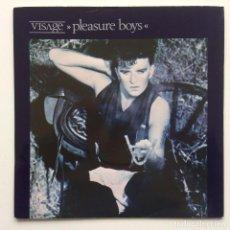 Discos de vinilo: VISAGE – PLEASURE BOYS / THE ANVIL (RE-MIX) UK,1982. Lote 230319530