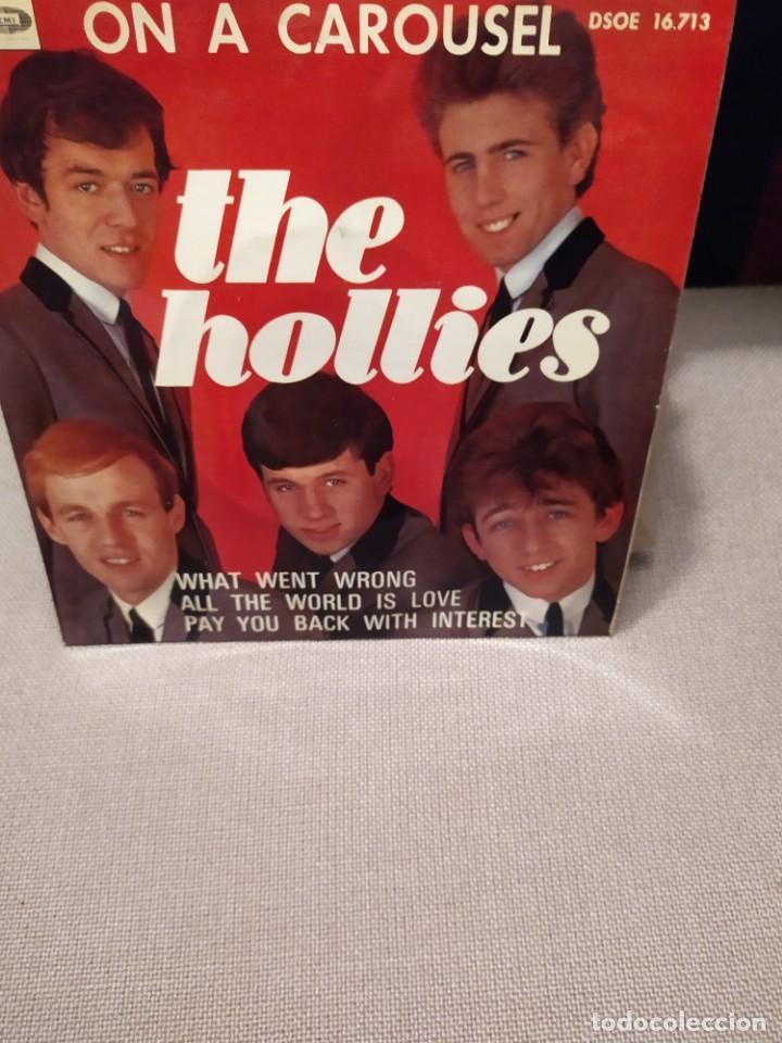 THE HOLLIES; ON A CAROUSEL,WHAT WENT WRONG + 2 ED. ESPAÑA 1967 EP (Música - Discos de Vinilo - EPs - Pop - Rock Internacional de los 50 y 60)