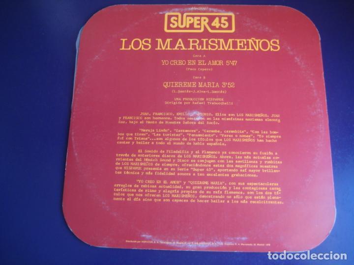 Discos de vinilo: Los Marismeños - Yo Creo En El Amor - MAXI HISPAVOX 1978 - RUMBAS DISCO - EDDY GUERIN - TRABUCCHELLI - Foto 2 - 230329750