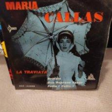 Discos de vinilo: MARIA CALLAS LA TRAVIA, BRINDIS, DU SOPRANO TENOR, FOLLIE FOLLIE, SAEF 1960. Lote 230335695