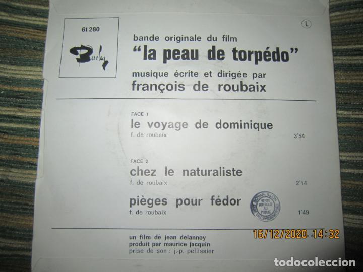 Discos de vinilo: LA PEAU DE TORPEDO EP - B.S.O. - ORIGINAL FRANCES - PROMOCIONAL - BARCLAY 1970 - STEREO - - Foto 2 - 230390065