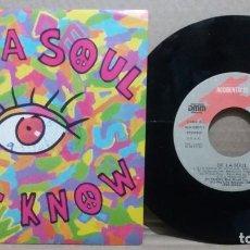 Discos de vinilo: DE LA SOUL / EYE KNOW / SINGLE 7 INCH. Lote 230407995