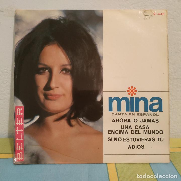 MINA - AHORA O JAMÁS + 3 RARO EP BELTER CANTADO EN ESPAÑOL DEL AÑO 1966 (Música - Discos de Vinilo - EPs - Canción Francesa e Italiana)