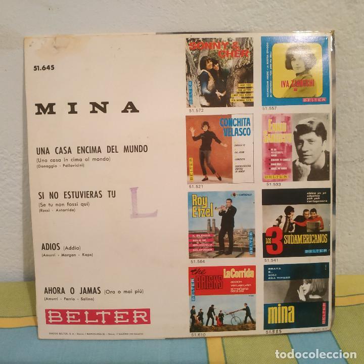 Discos de vinilo: MINA - AHORA O JAMÁS + 3 RARO EP BELTER CANTADO EN ESPAÑOL DEL AÑO 1966 - Foto 2 - 230412445