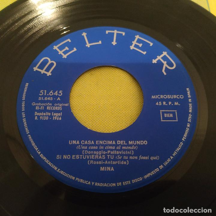 Discos de vinilo: MINA - AHORA O JAMÁS + 3 RARO EP BELTER CANTADO EN ESPAÑOL DEL AÑO 1966 - Foto 3 - 230412445