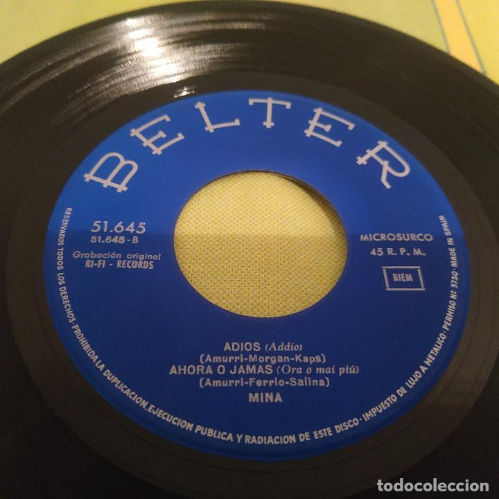Discos de vinilo: MINA - AHORA O JAMÁS + 3 RARO EP BELTER CANTADO EN ESPAÑOL DEL AÑO 1966 - Foto 4 - 230412445