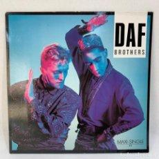 Disques de vinyle: MAXI SINGLE DAF - BROTHERS - ALEMANIA - AÑO 1985. Lote 230422125