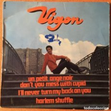 Discos de vinilo: VIGON HARLEM SHUFFLE EP RARA EDICION ORIGINAL FRANCESA RECORD VG, PORTADA VG. Lote 230431510