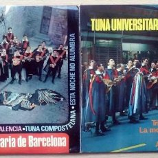Discos de vinilo: 2 EP TUNA UNIVERSITARIA DE BARCELONA (LAS CINTAS DE MI CAPA + 7) EKIPO 1967. Lote 230460600