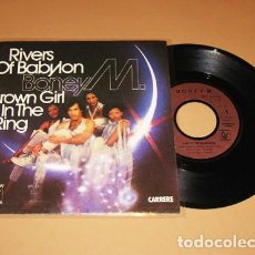 Discos de vinil: BONEY M. - RIVERS OF BABYLON - SINGLE - 1978 - IMPORT. Lote 230490200