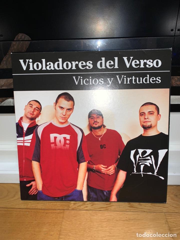 DISCO VINILO VIOLADORES DEL VERSO VICIOS Y VIRTUDES COMO NUEVO DOBLE V (Música - Discos - LP Vinilo - Rap / Hip Hop)
