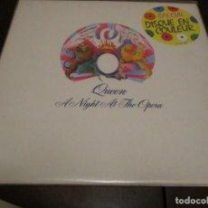 Discos de vinilo: QUEEN - LP - A NIGHT AT THE OPERA - EDICION FRANCESA - VINILO BLANCO - FREDDIE MERCURY - BRIAN MAY. Lote 230536030