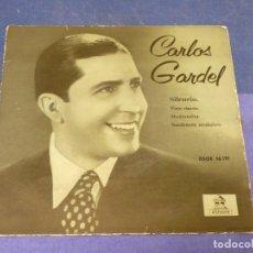 Discos de vinilo: EXPROBS3 DISCO 7 PULGADAS ESTADO CORRECTO CARLOS GARDEL SILENCIO. Lote 230544345