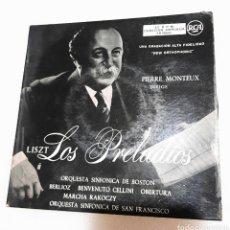 Discos de vinilo: LISZT. LOS PRELUDIOS. PIERRE MONTEUX. 2 SINGLES. Lote 230545935