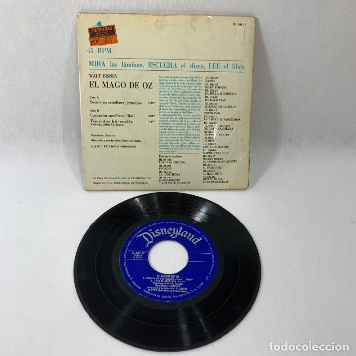 Discos de vinilo: SINGLE LIBRO EL MAGO DE OZ -- WALT DISNEY -- 1973 -- - Foto 2 - 230575970
