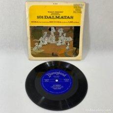 Discos de vinilo: SINGLE WALT DISNEY PRESENTA EL CUENTO DE 101 DALMATAS - EP DISNEYLAND SPAIN 1967. Lote 230581375
