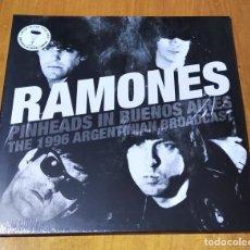 Discos de vinilo: RAMONES - PINHEADS IN BUENOS AIRES (2LP 2016, GATEFOLD, LIM. EDIT, CLEAR VINYL) NUEVO Y PRECINTADO. Lote 230583560