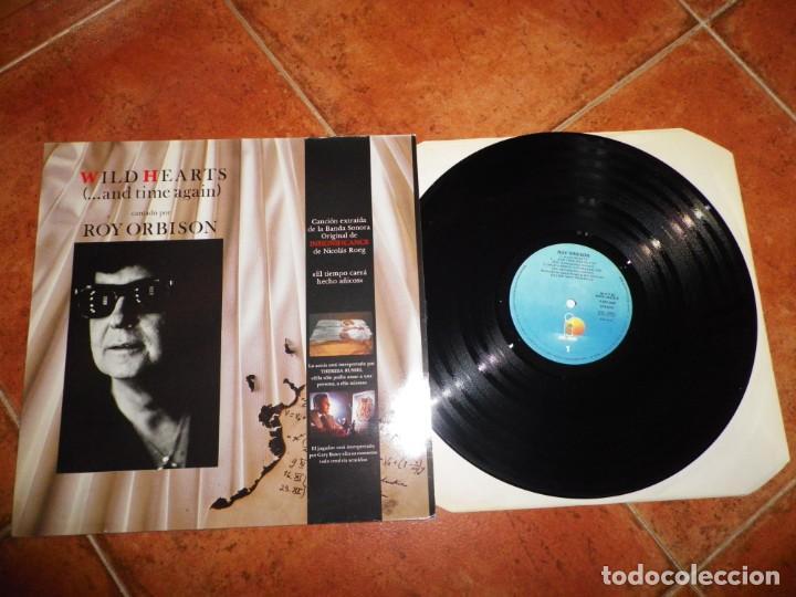 ROY ORBISON WILD HEARTS MAXI SINGLE VINILO 1985 ESPAÑA BANDA SONORA INSIGNIFICANCE 4 TEMAS MUY RARO (Música - Discos de Vinilo - Maxi Singles - Bandas Sonoras y Actores)