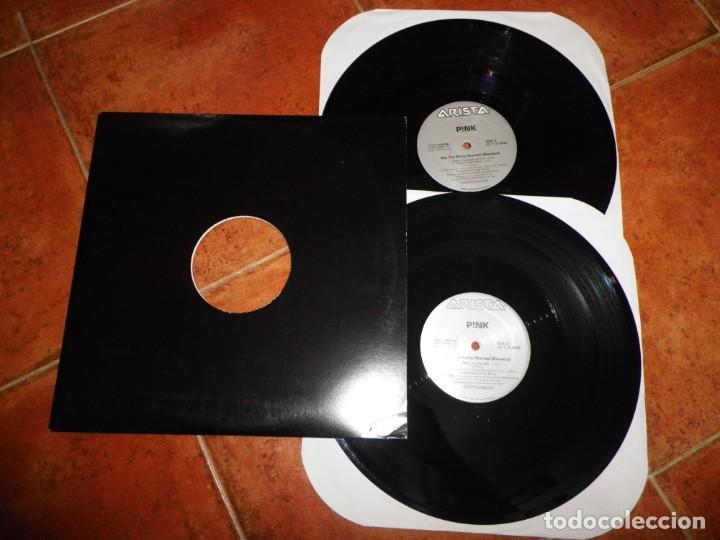 PINK GET THE PARTY STARTED REMIXES DOBLE MAXI SINGLE VINILO DEL AÑO 2001 USA CONTIENE 6 TEMAS 2 MAXI (Música - Discos de Vinilo - Maxi Singles - Pop - Rock Internacional de los 90 a la actualidad)