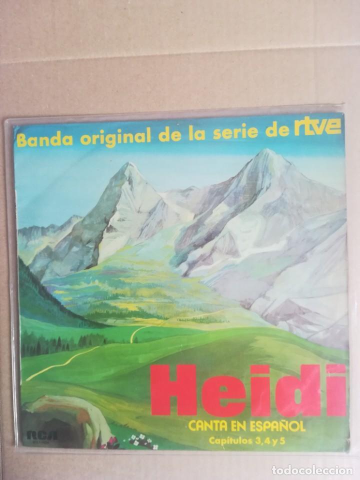 DISCO VINILO LP HEIDI CANTA EN ESPAÑOL CAPITULOS 3 4 Y 5 BANDA ORIGINAL SERIE RTVE 1975 (Música - Discos - LPs Vinilo - Música Infantil)