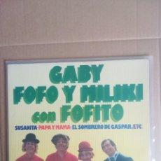 Disques de vinyle: DISCO VINILO LP GABY FOFO Y MILIKI CON FOFITO SUSANITA PAYASOS DE LA TELE 1975. Lote 230696725