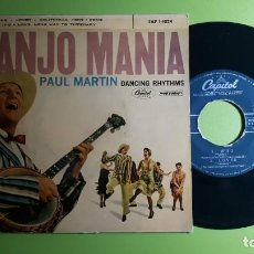 Discos de vinilo: PAUL MARTIN - BANJO MANIA - WHO +3 - EAP 1 1024 - 1959 - COMPRA MÍNIMA 3 EUROS. Lote 230717575