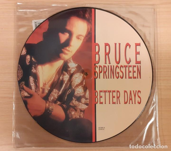 "BRUCE SPRINGSTEEN BETTER DAYS / TOUGHER THAN THE REST (LIVE) PICTURE DISC 12"" EDICIÓN INGLESA (Música - Discos de Vinilo - Maxi Singles - Pop - Rock Internacional de los 90 a la actualidad)"