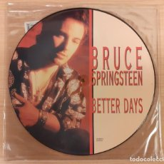 "Discos de vinilo: BRUCE SPRINGSTEEN BETTER DAYS / TOUGHER THAN THE REST (LIVE) PICTURE DISC 12"" EDICIÓN INGLESA. Lote 230719050"
