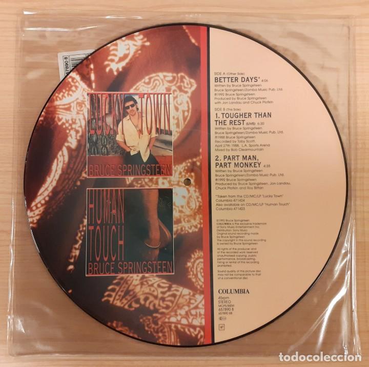 "Discos de vinilo: BRUCE SPRINGSTEEN BETTER DAYS / TOUGHER THAN THE REST (LIVE) PICTURE DISC 12"" EDICIÓN INGLESA - Foto 2 - 230719050"