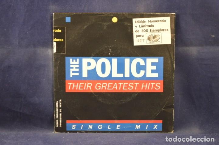 Discos de vinilo: THE POLICE ‎- THEIR GREATEST HITS - SINGLE MIX - EDICION LIMITADA 177/500 - SINGLE - Foto 2 - 230719125