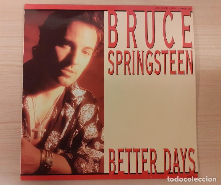 "BRUCE SPRINGSTEEN BETTER DAYS / TOUGHER THAN THE REST (LIVE) MAXI SINGLE 12"" (Música - Discos de Vinilo - Maxi Singles - Pop - Rock Internacional de los 90 a la actualidad)"