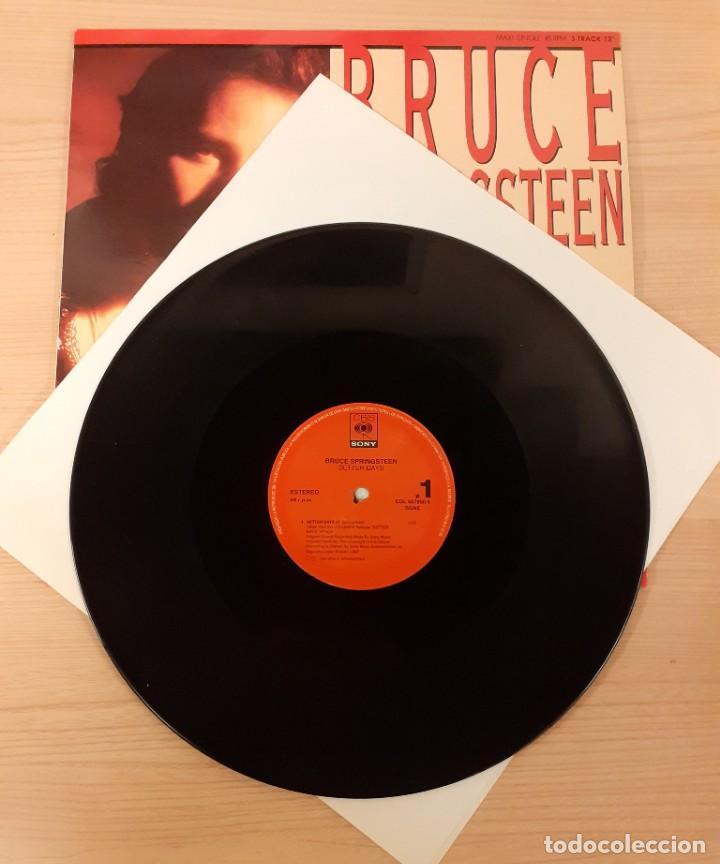 "Discos de vinilo: BRUCE SPRINGSTEEN BETTER DAYS / TOUGHER THAN THE REST (LIVE) MAXI SINGLE 12"" - Foto 3 - 230722915"