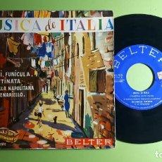 Discos de vinilo: MÚSICA DE ITALIA - FUNICULI FUNICULA +3 - 50205 - 1959 - COMPRA MÍNIMA 3 EUROS. Lote 230728195