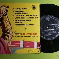Discos de vinilo: CANTAN LOS PAQUIROS - ENRIQUE CORTÉS - AUPA BETIS +5 - CID 17015 - 1961 - COMPRA MÍNIMA 3 EUROS. Lote 230729465