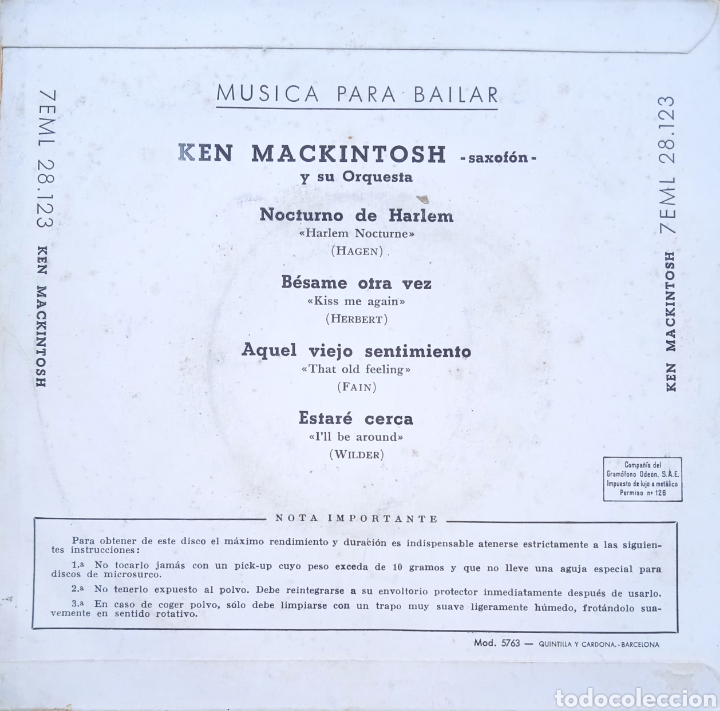 Discos de vinilo: EP Ken Mackintosh - Foto 2 - 230748850