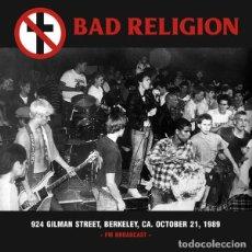 Dischi in vinile: BAD RELIGION – 924 GILMAN STREET, BERKELEY, CA. OCTOBER 21, 1989 -LP-. Lote 230754745