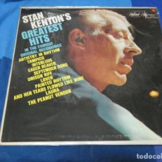 Discos de vinilo: LOTT110D LP JAZZ MUY BUEN ESTADO DE VINILO USA 70S CAPITOL STAN KENTON GREATEST HITS. Lote 230826950