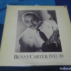 Discos de vinilo: LOTT110D LP JAZZ BUEN ESTADO GENERAL SUECIA 70 BENNY CARTER 1933-39. Lote 230828570