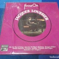 Discos de vinilo: LOTT110D DOBLE LP JAZZ UK CA 1972 JACQUES LOUSSIER FOCUS ON MUY BUEN ESTADO GENERAL. Lote 230843155
