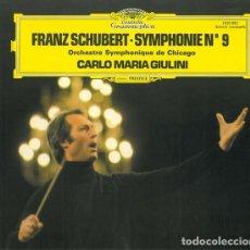 Discos de vinilo: FRANZ SCHUBERT, ORCHESTRE SYMPHONIQUE DE CHICAGO*, CARLO MARIA GIULINI – SYMPHONIE N° 9. Lote 230865885