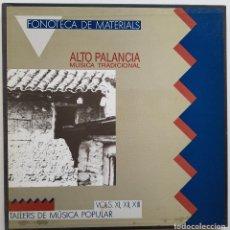 Disques de vinyle: FONOTECA DE MATERIALS. ALTO PALANCIA, MÚSICA TRADICIONAL. 3 LPS (VOLS XI, XII Y XIII). Lote 230875655